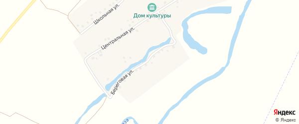 Береговая улица на карте деревни Телепаново с номерами домов