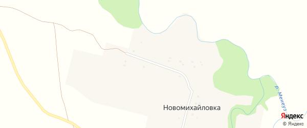 Интернациональная улица на карте деревни Новомихайловки с номерами домов