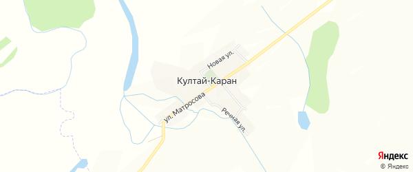 Карта деревни Култая-Карана в Башкортостане с улицами и номерами домов