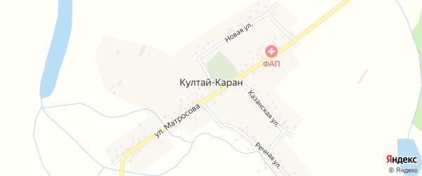 Речная улица на карте деревни Култая-Карана с номерами домов