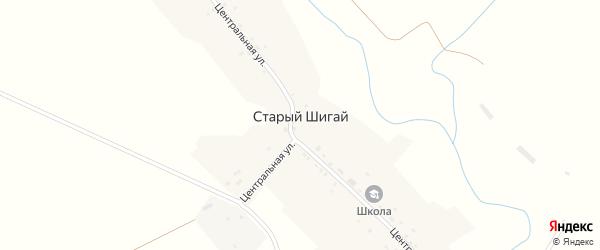 Молодежная улица на карте села Старого Шигая с номерами домов