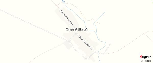 Карта села Старого Шигая в Башкортостане с улицами и номерами домов