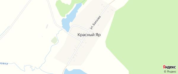 Улица Баязова на карте деревни Красного Яра с номерами домов