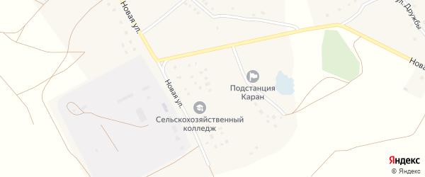 Молодежная улица на карте села Карана с номерами домов
