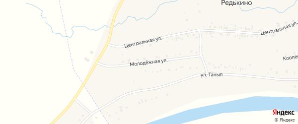 Молодежная улица на карте села Нового Каинлыка с номерами домов