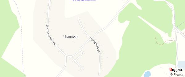 Нагорная улица на карте деревни Чишмы с номерами домов