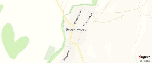 Карта села Бурангулово в Башкортостане с улицами и номерами домов