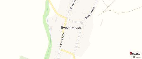 Восточная улица на карте села Бурангулово с номерами домов