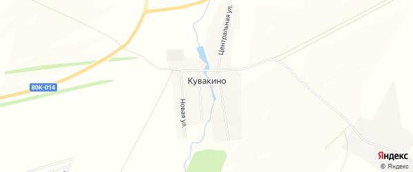 Карта деревни Кувакино в Башкортостане с улицами и номерами домов