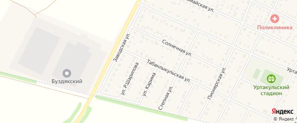 Табанлыкульская улица на карте села Буздяк с номерами домов