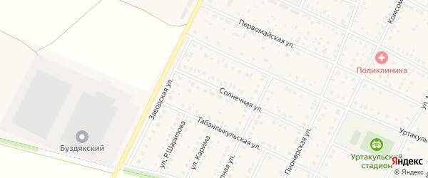 Солнечная улица на карте села Буздяк с номерами домов