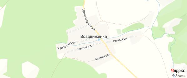 Карта села Воздвиженки в Башкортостане с улицами и номерами домов