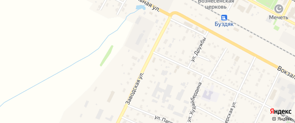 Заводская улица на карте села Буздяк с номерами домов