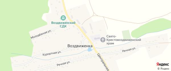 Центральная улица на карте села Воздвиженки с номерами домов