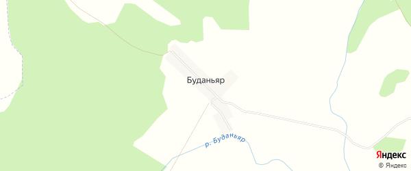 Карта деревни Буданьяра в Башкортостане с улицами и номерами домов