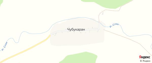 Подгорная улица на карте деревни Чубукаран (Шаровский с/с) с номерами домов