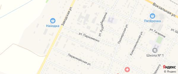 Улица Пархоменко на карте села Буздяк с номерами домов