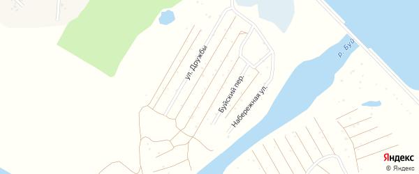 Буйский переулок на карте СНТ Буя с номерами домов