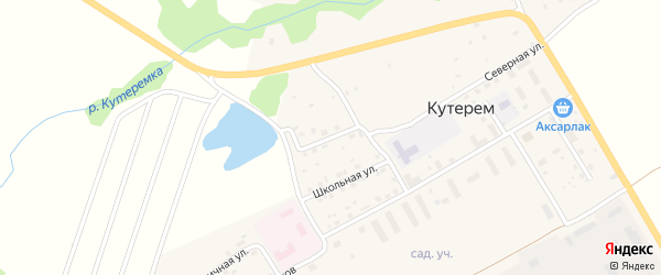 Набережная улица на карте села Кутерема с номерами домов