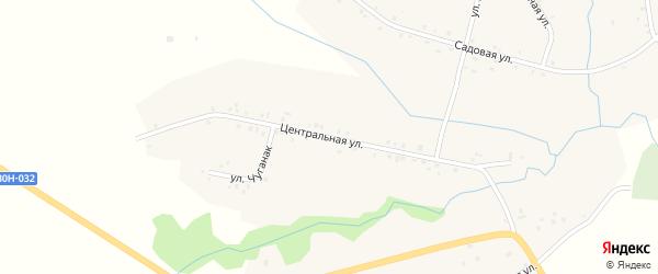 Центральная улица на карте села Кутерема с номерами домов