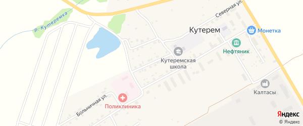 Школьная улица на карте села Кутерема с номерами домов