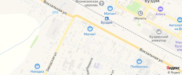 Улица Дружбы на карте села Рассвета с номерами домов
