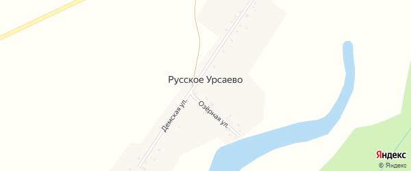 Озерная улица на карте деревни Русское Урсаево с номерами домов