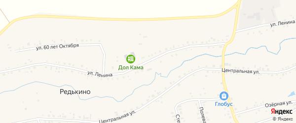 Улица Ленина на карте деревни Редькино с номерами домов