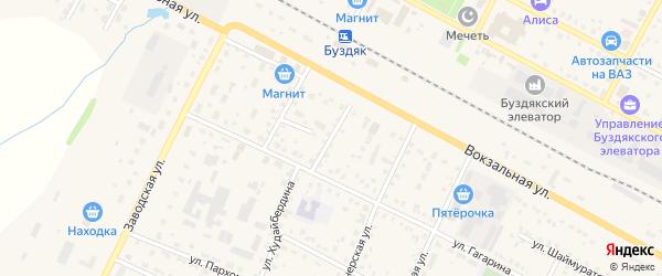 Вокзальный переулок на карте села Буздяк с номерами домов