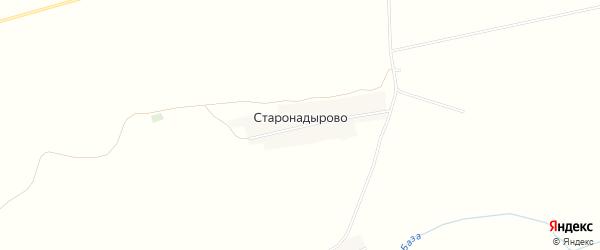 Карта деревни Старонадырово в Башкортостане с улицами и номерами домов