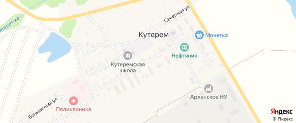 Улица Нефтяников на карте села Кутерема с номерами домов