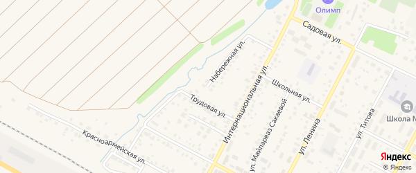 Набережная улица на карте села Буздяк с номерами домов