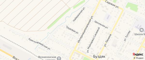 Трудовая улица на карте села Буздяк с номерами домов