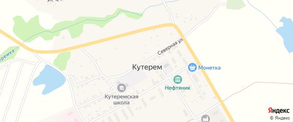Северная улица на карте села Кутерема с номерами домов