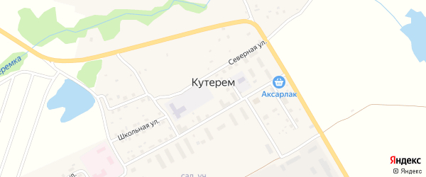 Улица Чуганак на карте села Кутерема с номерами домов