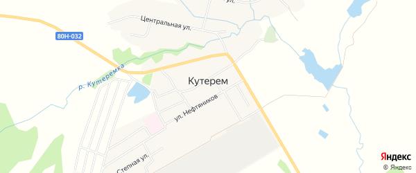 Карта села Кутерема в Башкортостане с улицами и номерами домов