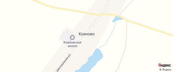Центральная улица на карте деревни Кояново с номерами домов