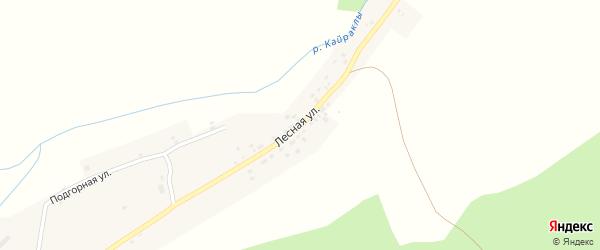 Лесная улица на карте села Кайраклы с номерами домов