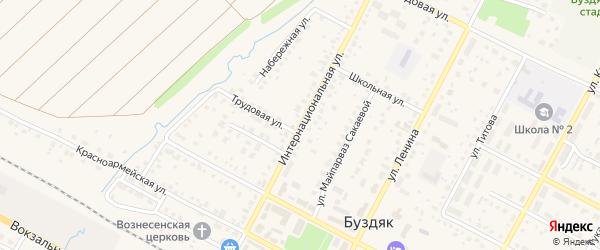 Интернациональная улица на карте села Буздяк с номерами домов