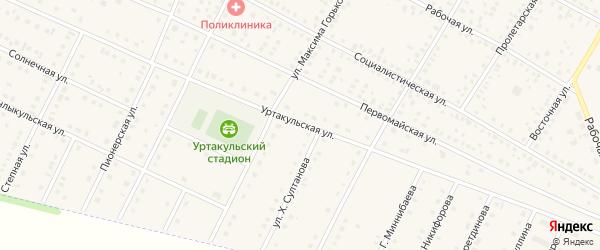 Уртакульская улица на карте села Буздяк с номерами домов