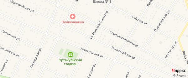 Первомайская улица на карте села Сарайгировского отделения Уртакульского с номерами домов