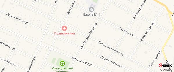 Социалистическая улица на карте села Сарайгировского отделения Уртакульского с номерами домов