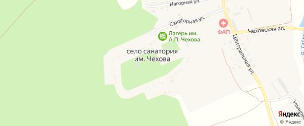 Центральная улица на карте села Санатория имени Чехова с номерами домов