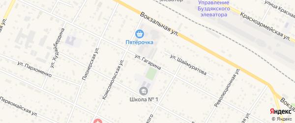 Улица Гагарина на карте села Буздяк с номерами домов