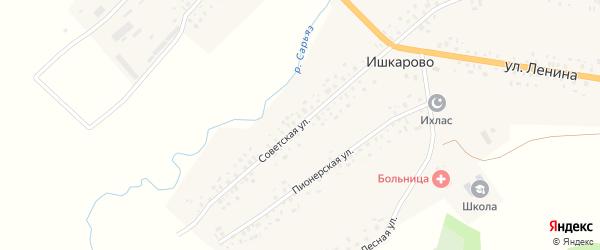 Советская улица на карте села Ишкарово с номерами домов
