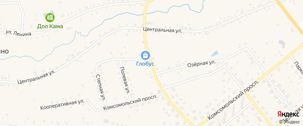Новая улица на карте деревни Редькино с номерами домов