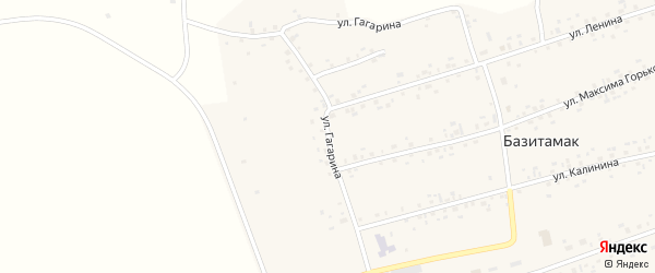 Улица Гагарина на карте села Базитамака с номерами домов