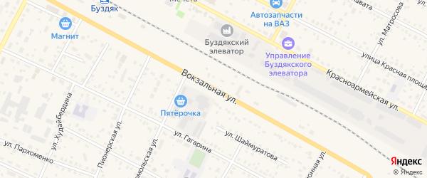 Вокзальная улица на карте села Буздяк с номерами домов