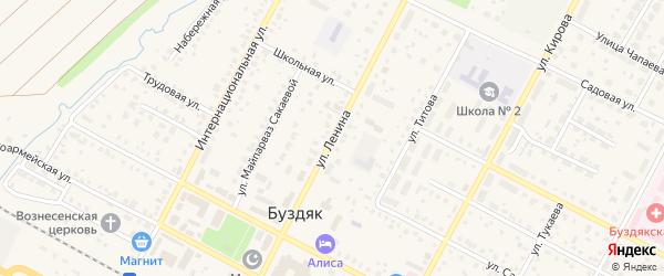 Улица Ленина на карте села Буздяк с номерами домов