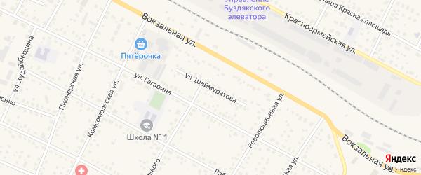 Улица Шаймуратова на карте села Буздяк с номерами домов